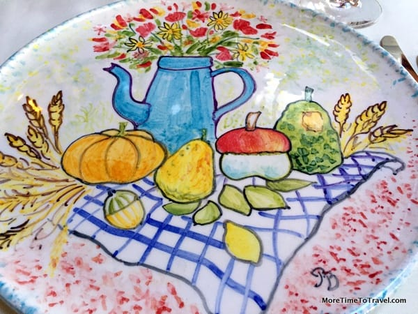 Playful hand-painted plate