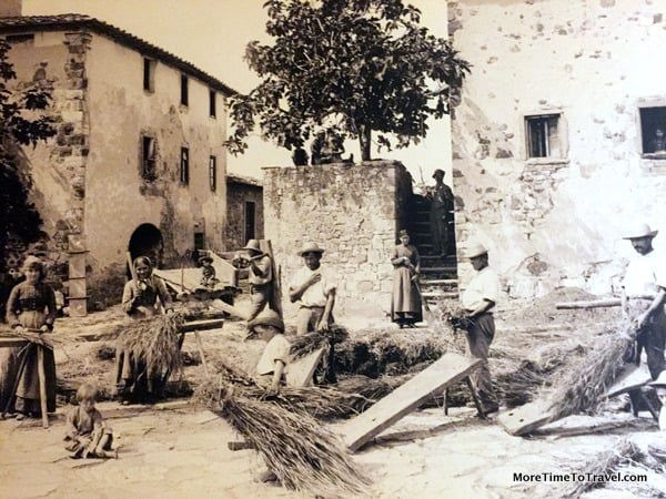 Portrait of Castelfalfi as it once was---in the hotel lobby of Hotel La Tabaccaia