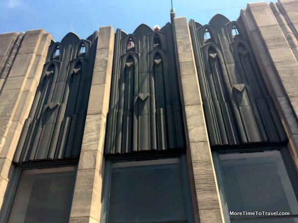 Art deco architectural detail at Top of the Rock