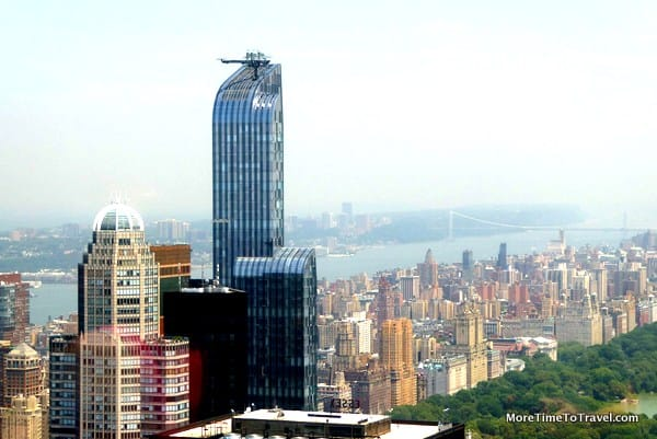 View of the Hudson River looking west from Top of the Rock