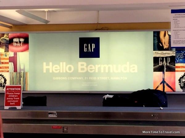 Baggage carousel at Bermuda Airport