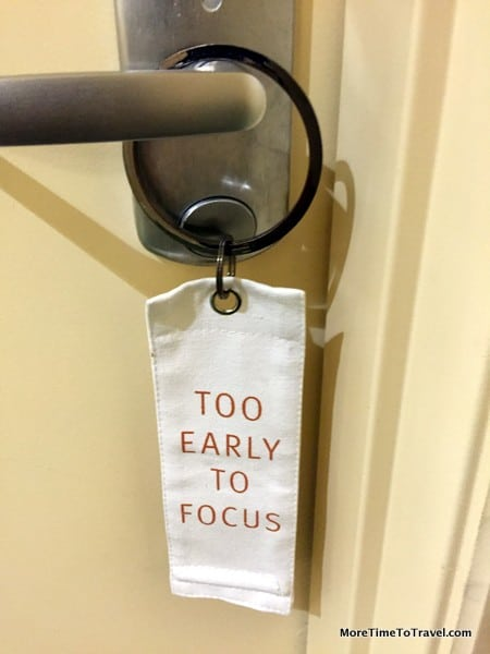 Do not disturb: Too Early To Focus