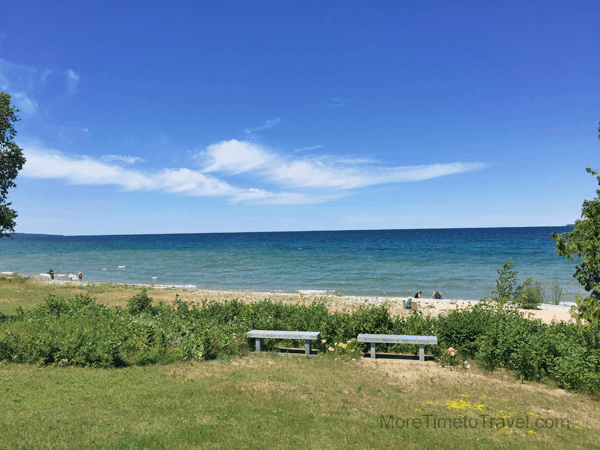 Scenic Magnus Park, the smallest of several waterfront parks along Little Traverse Bay.