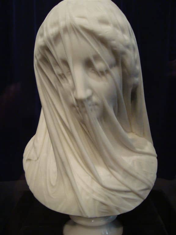 The Veiled Virgin, a marble masterpiece