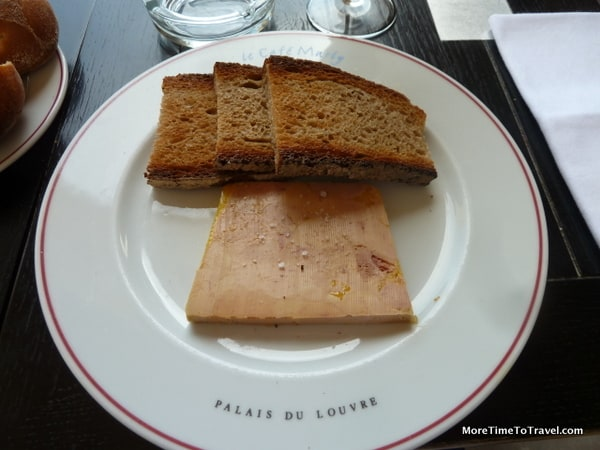 Foie gras at Cafe Marly at the Louvre in Paris