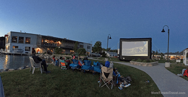 """Watching """"Up"""" in the village green made the most of a nice night."""