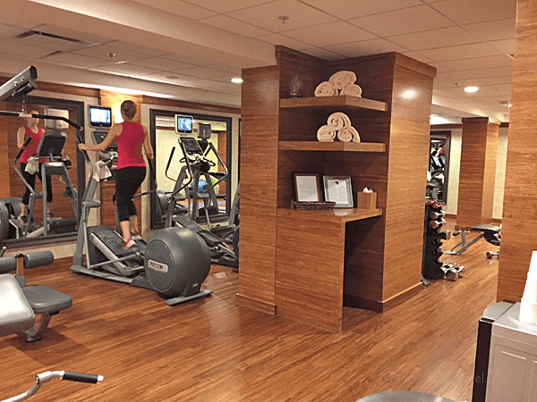 The hotel's fitness room, on the 4th floor.