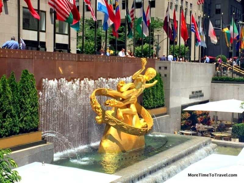 Gold-leafed Prometheus at Rockefeller Center