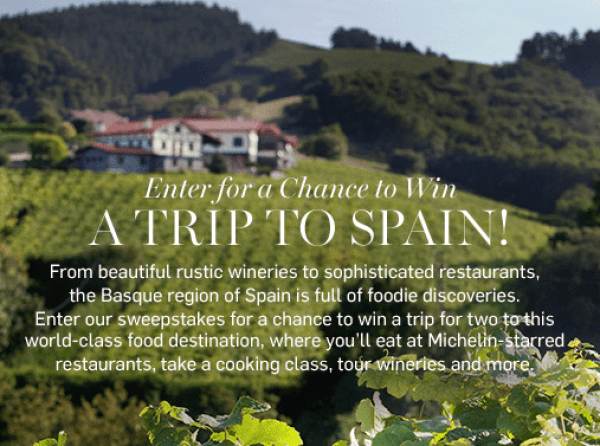 Win a foodie trip to Spain