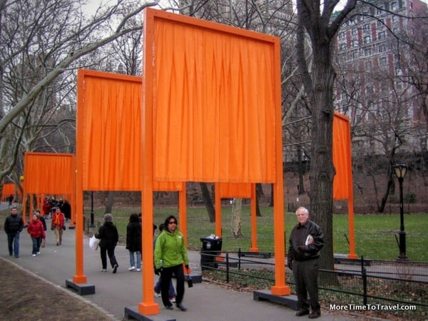 The Gates at Central Park, NY, USA by Christo and Jeanne-Claude
