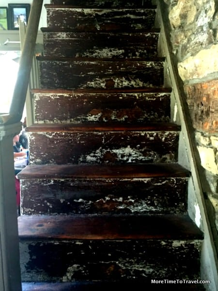 Rickety staircase leading upstairs