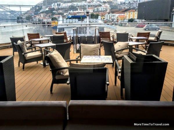 The intimate Aquavit Lounge