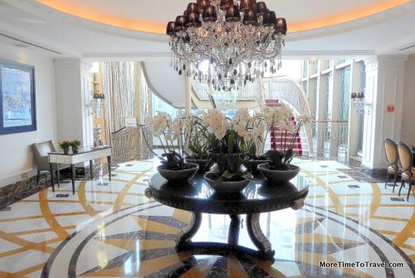 Gracious lobby of the Intercontinental Porto