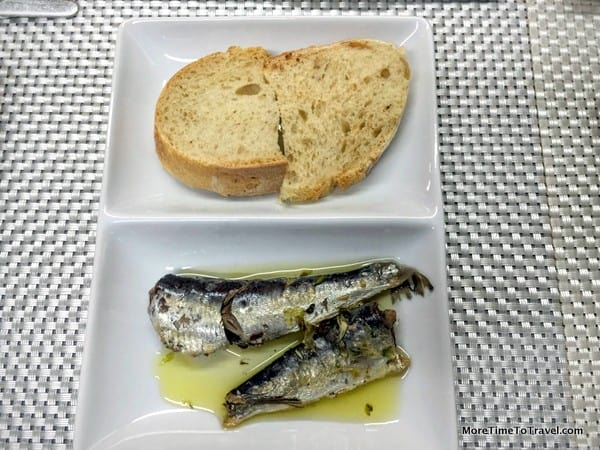 Bread and sardines