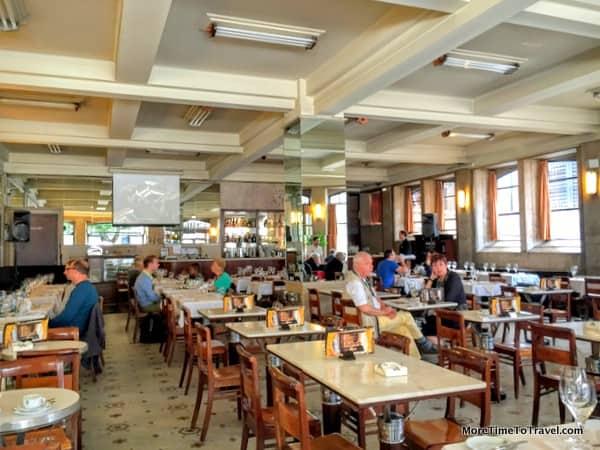 Interior of Cafe Guarany