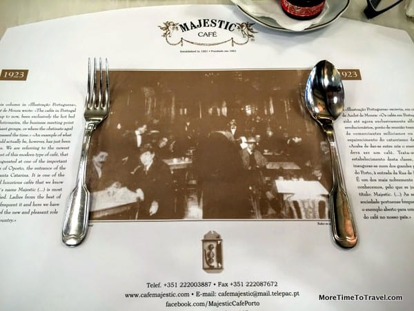 Place setting at Majestic Cafe