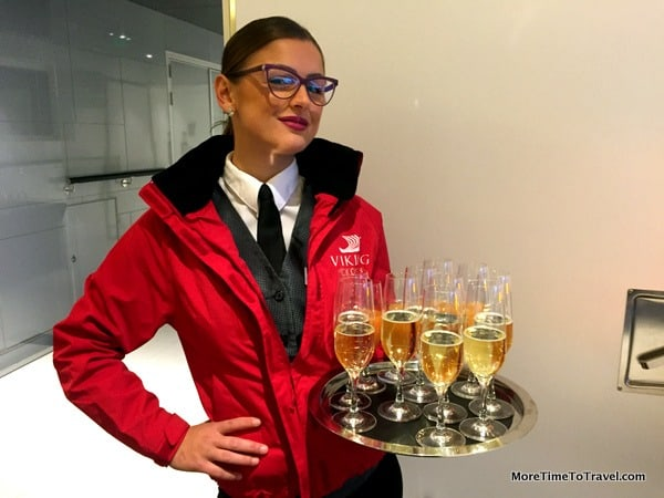 Welcome onboard the Viking Star champagne cocktail