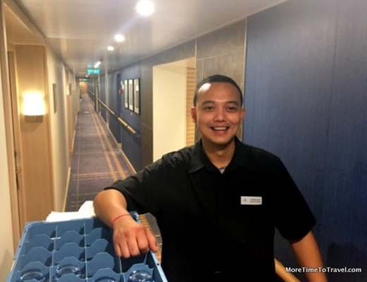 Moehammed, our cabin steward on the Viking Star