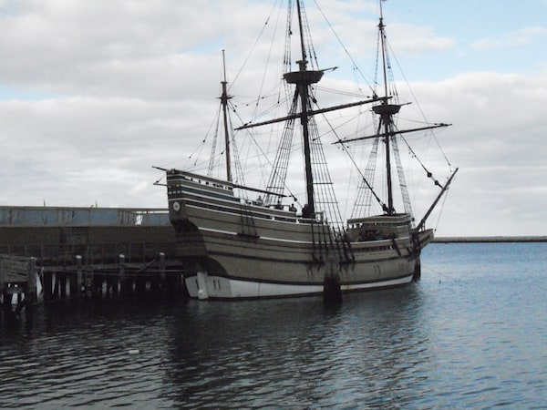 Replica of the Mayflower in Plymouth, Massachusetts