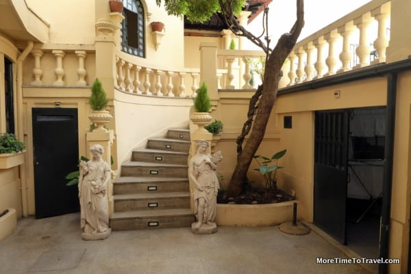 Steps in the rear courtyard