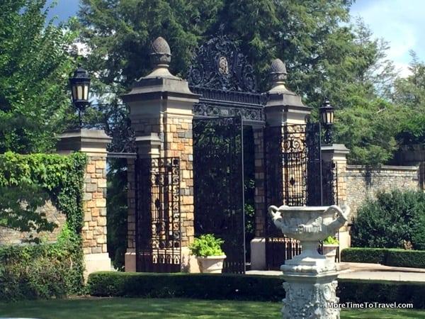 One of the beautiful ironwork gates at Kykuit