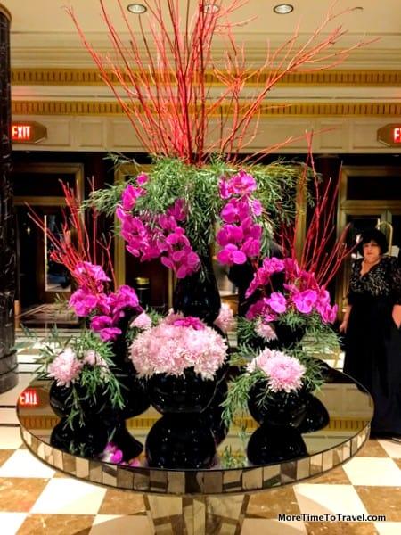 Lobby floral arrangement