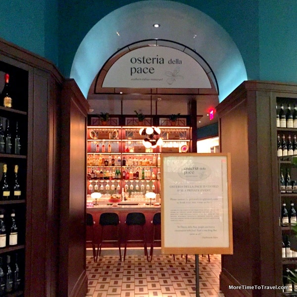 Entrance to Osteria della Pace in Eataly NYC Downtown