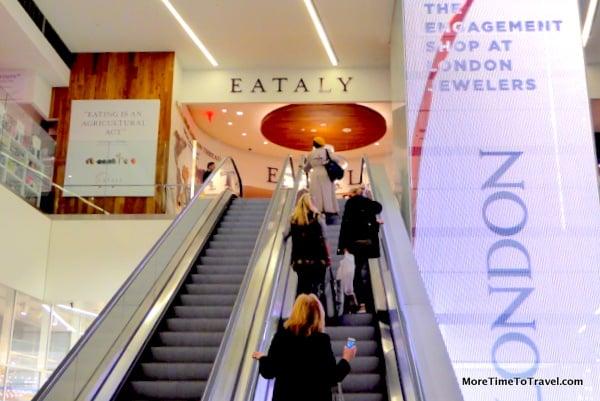 Escalator leading to Eataly
