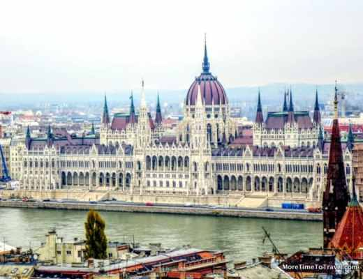 Sailing past the Hungarian Parliament Building in Budapest