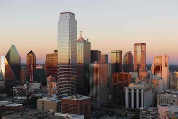 Dallas at dusk from Reunion Tower