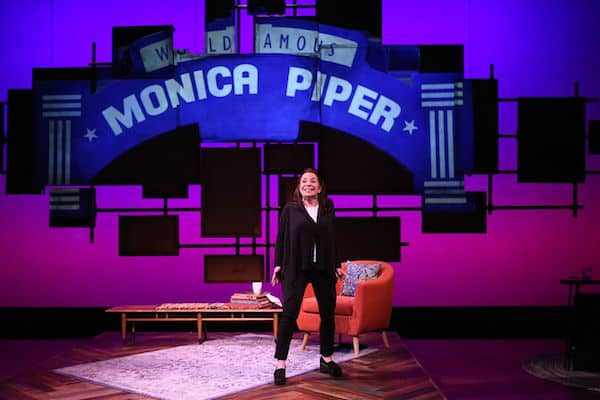 Monica Piper on the stage of Not That Jewish (Photo credit: Carol Rosegg)