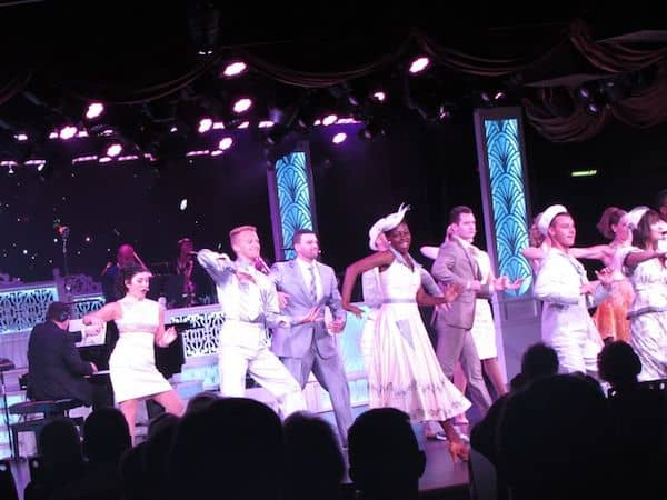 Big Show with talented singers and dancers on Oceania Marina