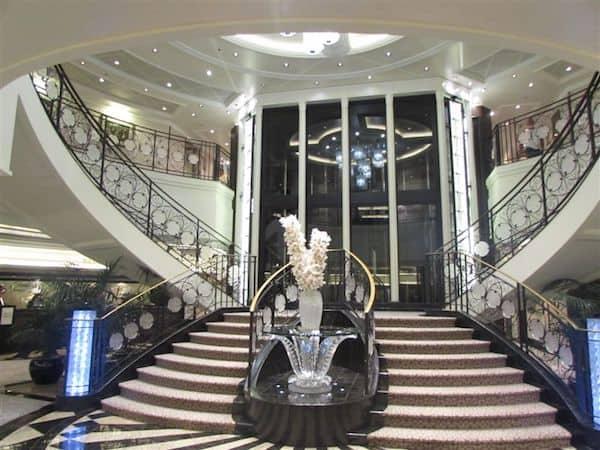 Elegant atrium on Oceania Marina