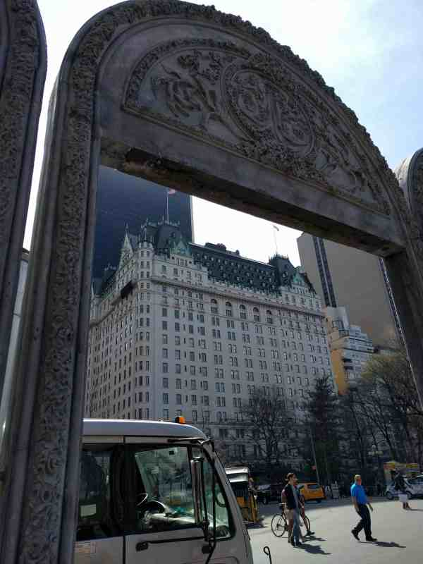 Open House arch with the Plaza Hotel in the background