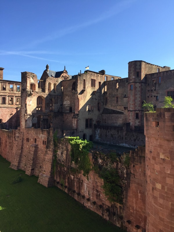 Moat at Heidelberg Castle