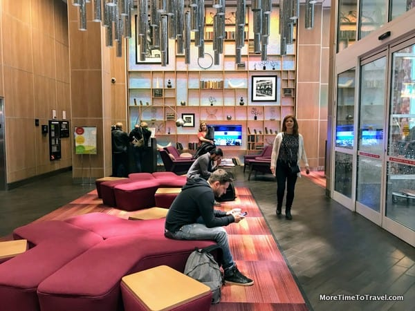 Lobby of the Hampton Inn - Times Square Central