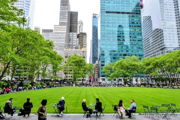 Green space at Bryant Park