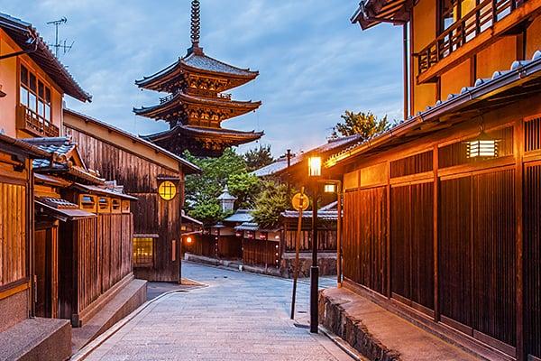 Hokan-ji Temple colloquially known as Yasaka-no-to, Kyoto, Japan