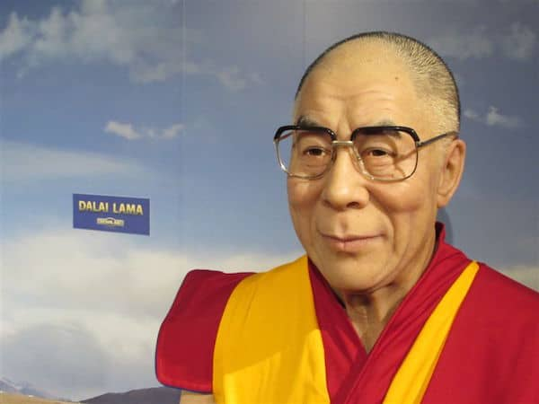 Dalai Lama in Lifelike Wax