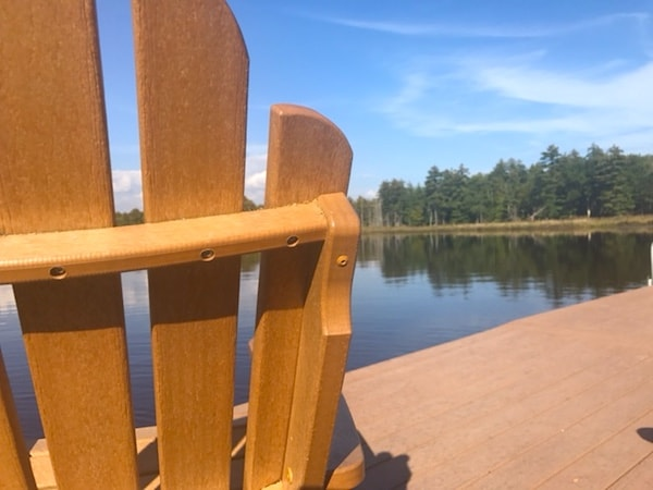 One of the many relaxing spots at The Lodge at Woodloch
