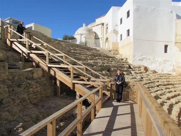 The ancient Roman Theater in Cadiz