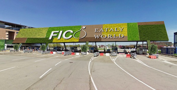 Rendering of entrance to FICO Eataly World