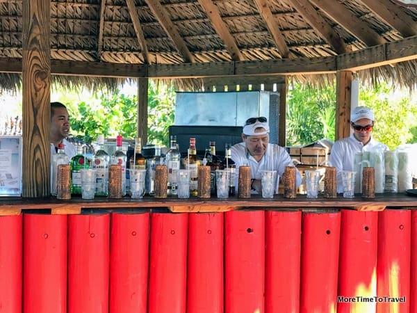 Captain Morgan's Bar on Half Moon Cay
