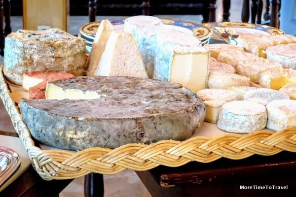 Selection of fresh and matured cheese from La Mère Richard