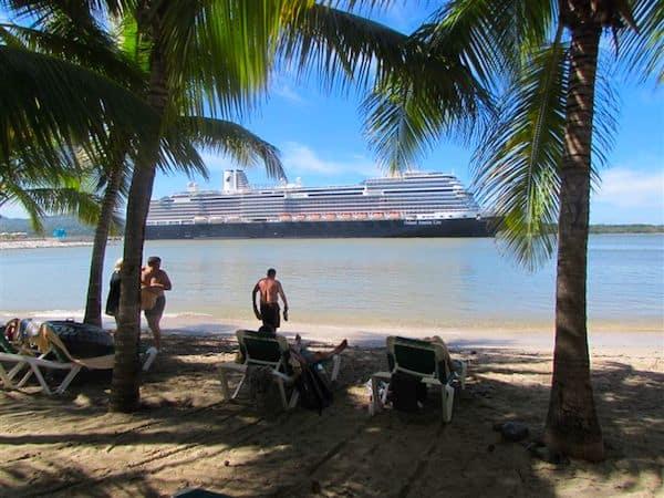 Relaxing in Caribbean waters