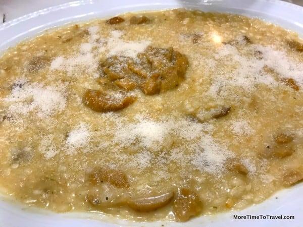 Porcini mushroom risotto at Trattoria da Nello, Bologna