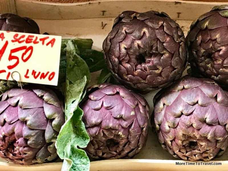 Fresh artichokes at the market, Bologna