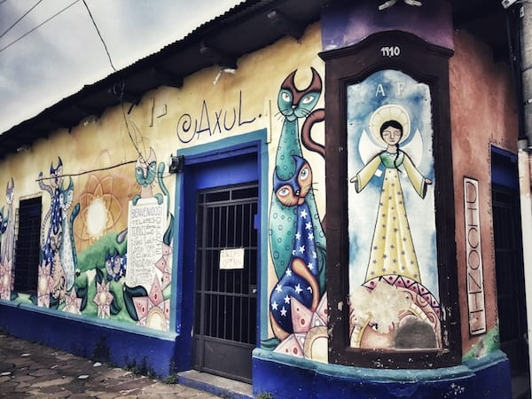 The town of Ataco is known for its colorful murals