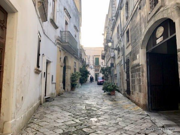 A quiet street in Galatina