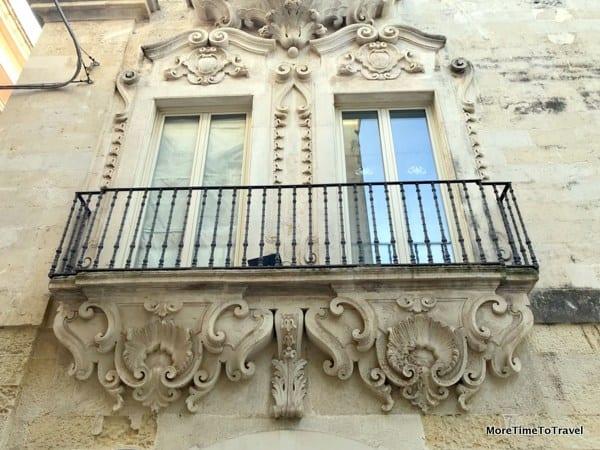 Baroque balcony in Galatina